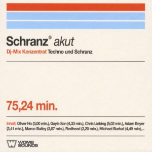 TECHNO AKUT TONIKUM Various Artists Schranz akut Womb Sounds