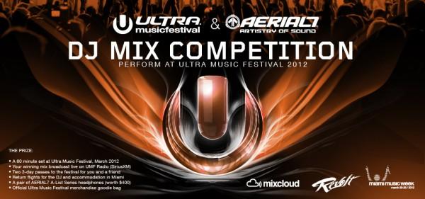 Ultra Music Festival Miami. Aerial7 und das Ultra Music Festival in Miami führen einen weltweiten DJ Wettbewerb durch und jeder kann gewinnen. Egal ob DJs aus dem House, Techno, Dubstep oder Hip Hop Bereich. Jeder kann mitmachen und ein 60 Minütiges Set auf dem Ultra Music Festival + Flug + Hotel + Kopfhörer von Aerial7 + ……… gewinnen.