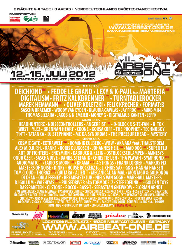 Festival Line up 2012
