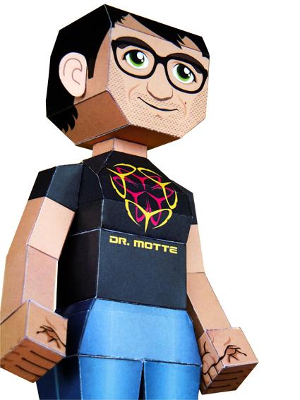 Dr. Motte Papercraft Papiermodell von Dr. Motte