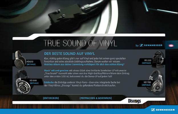 """True Sound of Vinyl"""": der erste """"Social Vinyl Index"""" auf den Facebook-Seiten von Audiospezialist Sennheiser"""