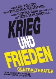 """Flyer Theaterstück """"Krieg und Frieden"""" mit Apparat"""
