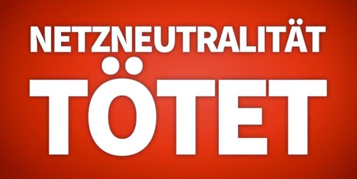 Netzneutralität tötet Techno‽ Rettet das Internet.