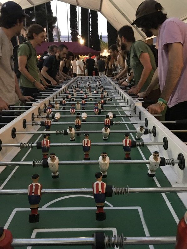 Sonar 2017, Barcelona. Der längste Kicker Spaniens?