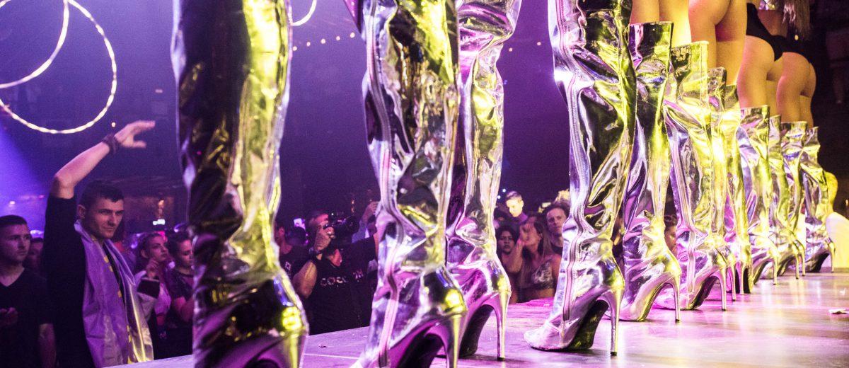 Dancing girls at Amnesia Ibiza